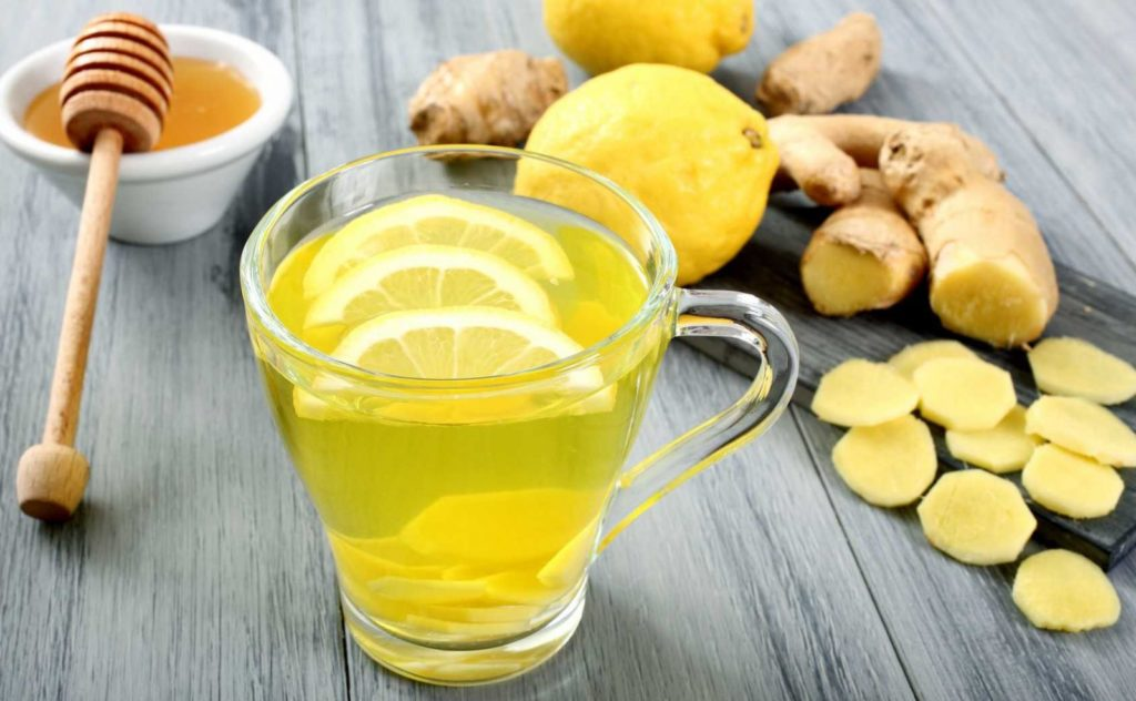 Чай с имбирем, лимоном и медом