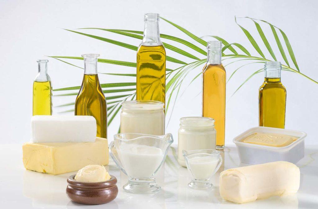 Растительное и сливочное масло