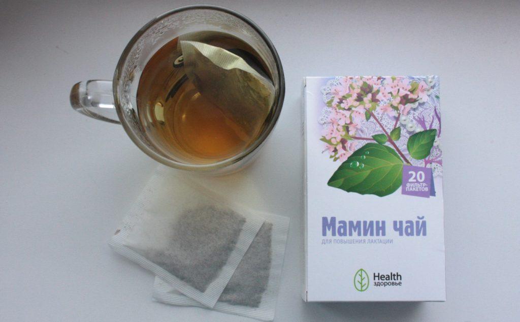 Мамин чай в упаковке, пакетике и чашке